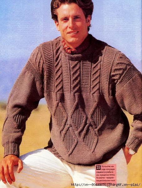 Вязание красивые мужские свитера