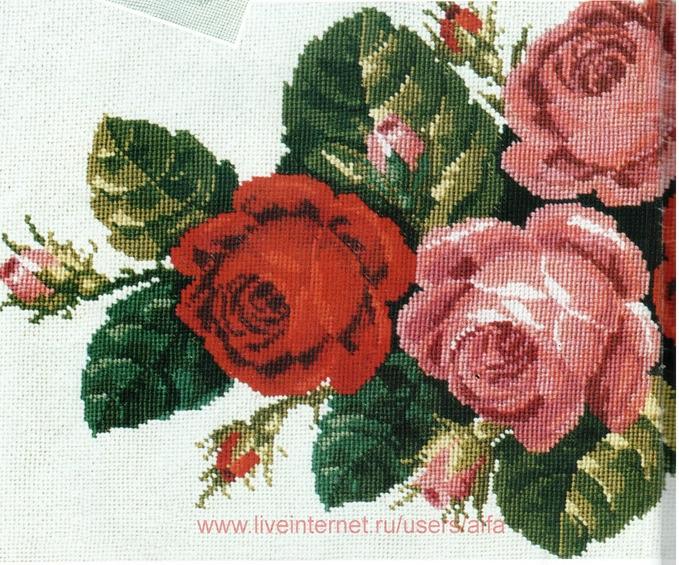 Схема вышивки викторианские розы