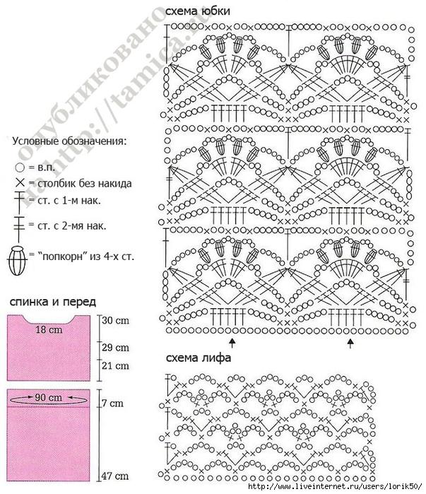 Модное вязание крючком со схемами