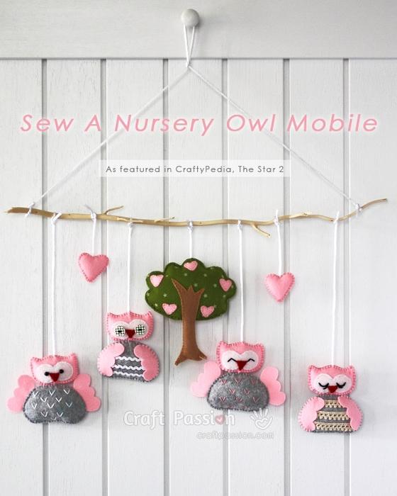 Для детской комнаты. Мобиль из фетровых совушек (18) (560x700, 223Kb)