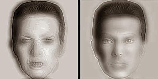 Заблуждения. Слева страшная рожа, а справа симпатичное лицо (510x256, 17Kb)