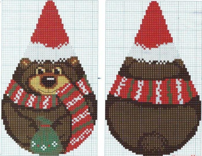 Из вышивки сделать новогоднюю игрушку своими руками