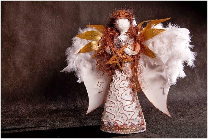 Шикарные, нарядные, яркие, праздничные ангелы своими руками