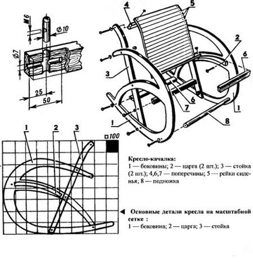 Кресло качалка своими руками из металла чертежи