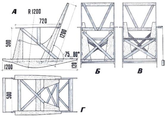 Кресло для дачи чертежи и схемы