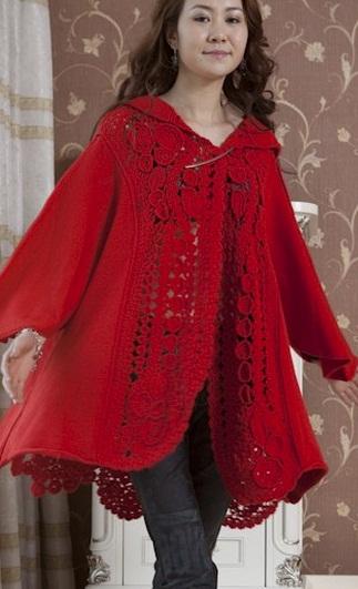 Схема вязания пальто крючком