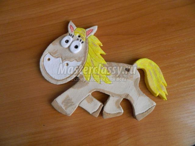 Поделка из соленого теста лошадь 74
