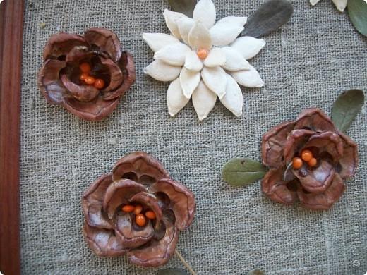 Как сделать цветы из природного материала своими руками фото