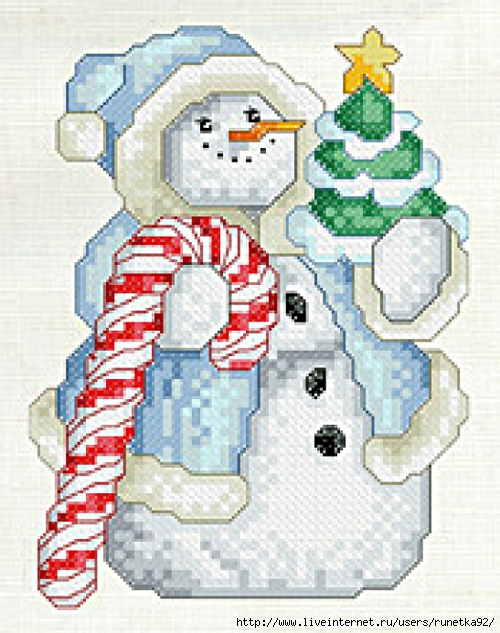 Dec-BlueSnowman-Color (500x633, 265Kb)