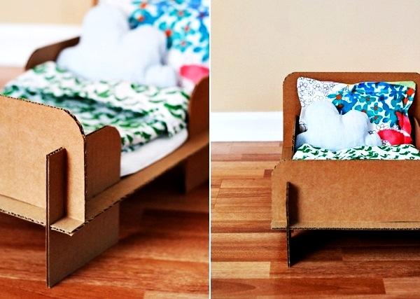 Кровать из картона своими руками фото