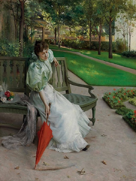 Julius Le Blanc Stewart In the Garden 1896 (527x700, 133Kb)