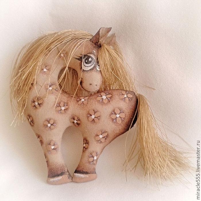кофейная текстильная лошадка к новому году (3) (700x700, 366Kb)