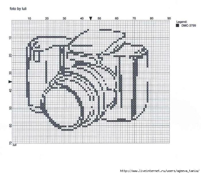 Схема для вышивки фотоаппарат