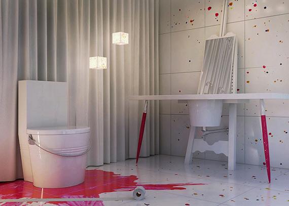 креативный дизайн интерьера фото 6 (570x407, 159Kb)
