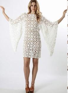 Вязанные платья белые