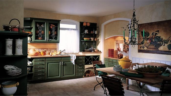 кухня в стиле кантри (1) (700x393, 421Kb)