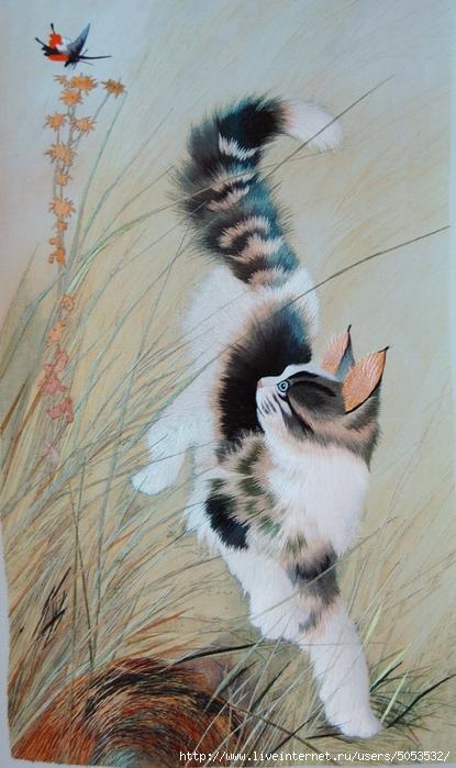 кошка шелком,китай (415x700, 247Kb)