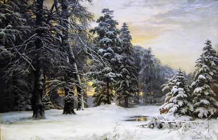 Андерсен-Лундбю-Андерс-(1841-1923)---Зимний-пейзаж850 545 (700x448, 126Kb)
