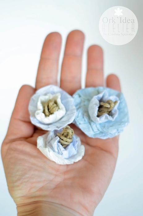 Цветы из джута и папиросной бумаги. Нежные идеи (15) (463x700, 140Kb)