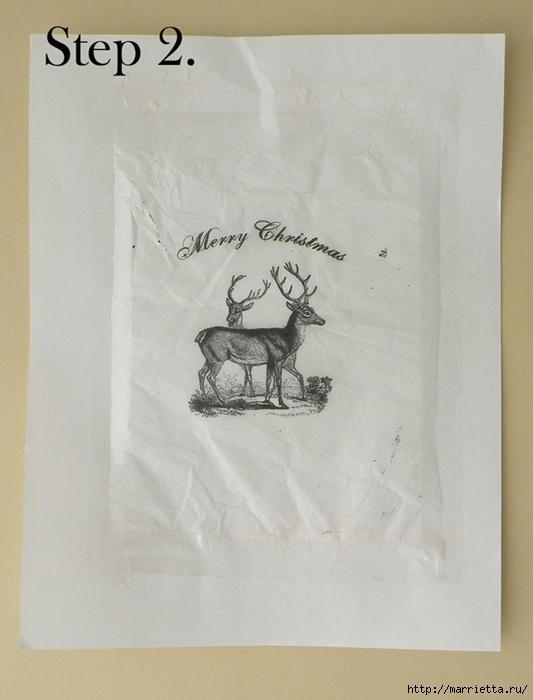 Винтажные свечи своими руками. Перенос распечатки на принтере (12) (533x700, 187Kb)