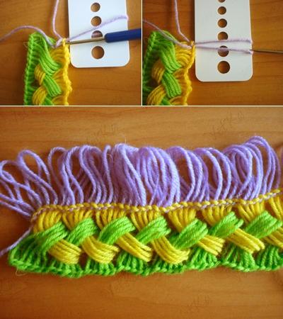 Веселый шарфик, вязание крючком на линейке (6) (400x450, 193Kb)