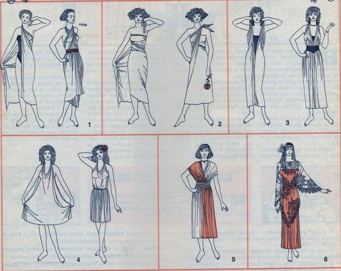 Делаем платье из ткани