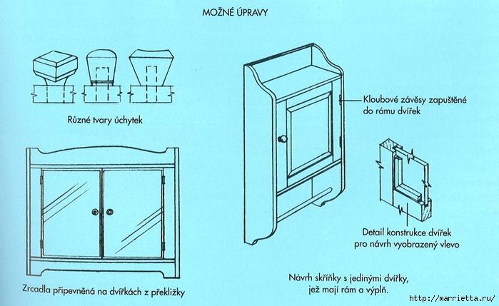 Мебель своими рукам. Шкафчик с дверцами для ванной комнаты (11) (700x429, 234Kb)