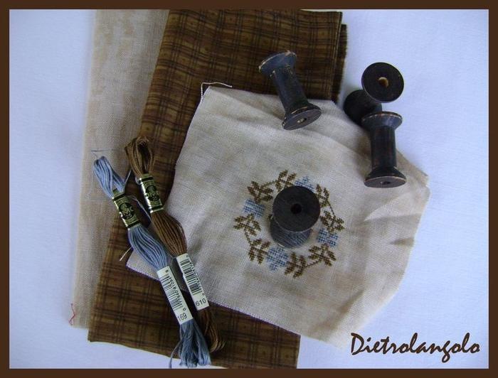 Стильная игольница из льна с вышивкой. Фото мастер-класс (1) (700x532, 248Kb)