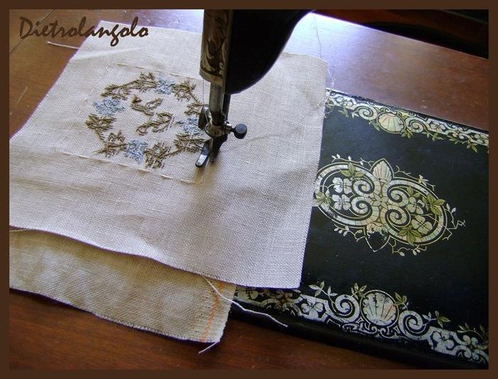Стильная игольница из льна с вышивкой. Фото мастер-класс (3) (700x532, 294Kb)