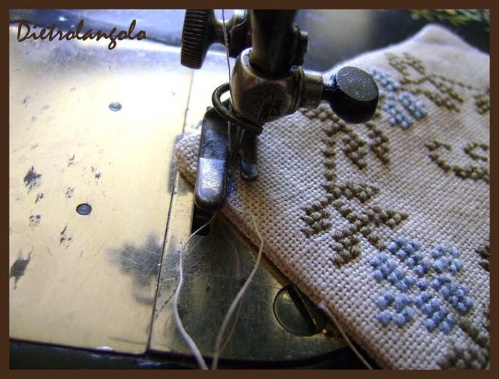 Стильная игольница из льна с вышивкой. Фото мастер-класс (5) (700x532, 268Kb)