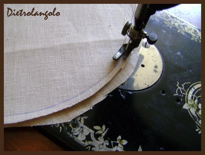 Стильная игольница из льна с вышивкой. Фото мастер-класс (11) (700x532, 247Kb)