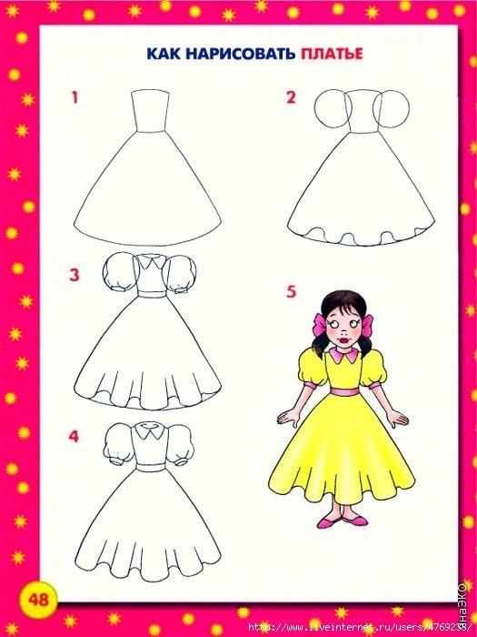 Картинки для девочек рисовать руками