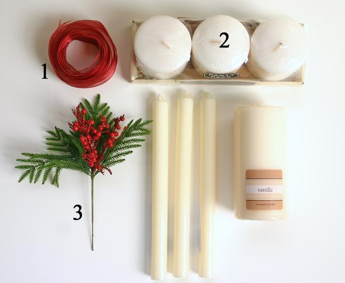 Декоративные новогодние свечи с переносом нотной распечатки (1) (700x572, 220Kb)