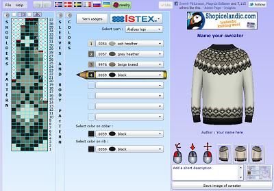 сохранить схему.  Сайт, на котором можно создавать схемы вязания исландских свитеров своими руками.