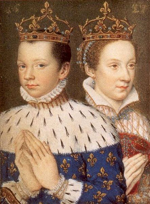 King Frances II. of France and his wife Mary Stuart, Queen of France and Queen of Scotland, (517x700, 360Kb)
