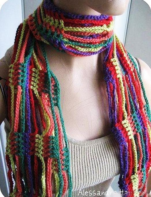 【引用】外网~独特的构思、漂亮的围巾 - 秋林红叶 -