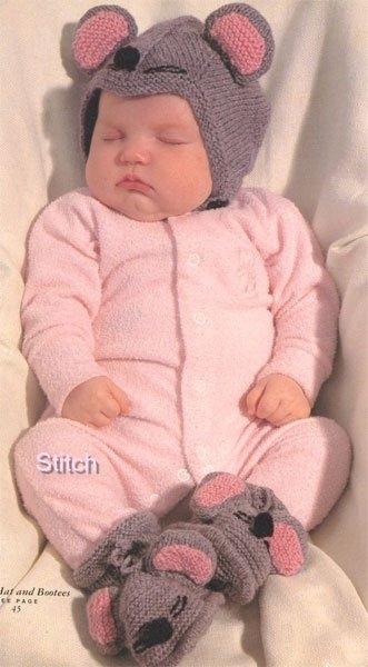 Детская шапочка МЫШКА. Вязание спицами (3) (331x600, 110Kb)