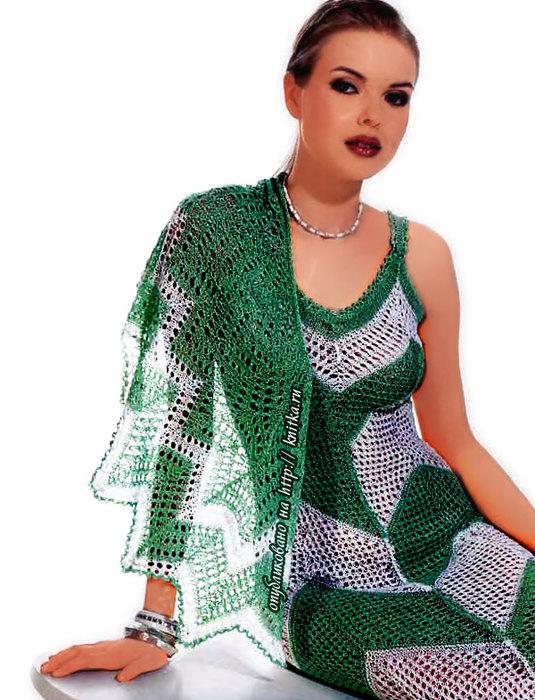 зеленая-шаль (535x700, 120Kb)