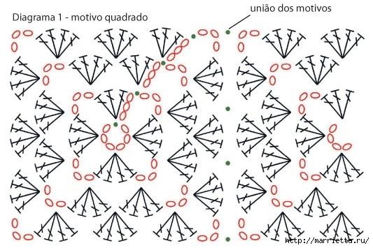 Детское одеялко крючком. Схема (1) (533x355, 152Kb)
