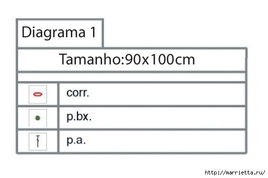 Детское одеялко крючком. Схема (3) (533x355, 49Kb)