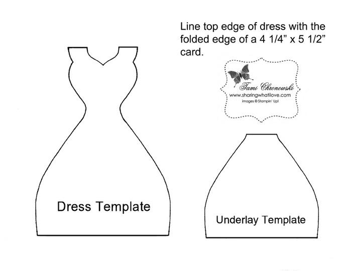 Выкройка платья на открытку 92