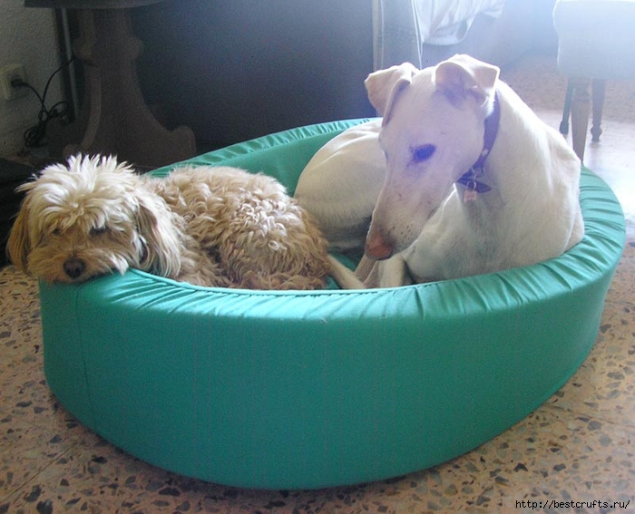 Как сшить лежанку для собаки. мастер-классы (21) (700x567, 279Kb)