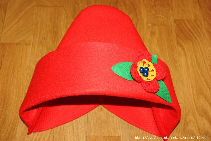 Шапка красной шапочки своими руками