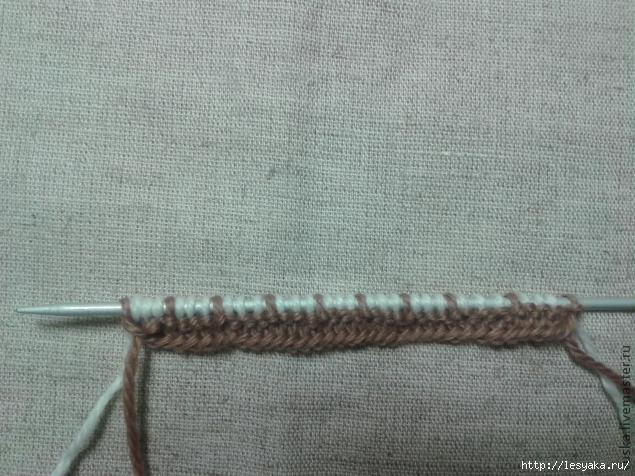 针织教程:简单的双色针织 - maomao - 我随心动