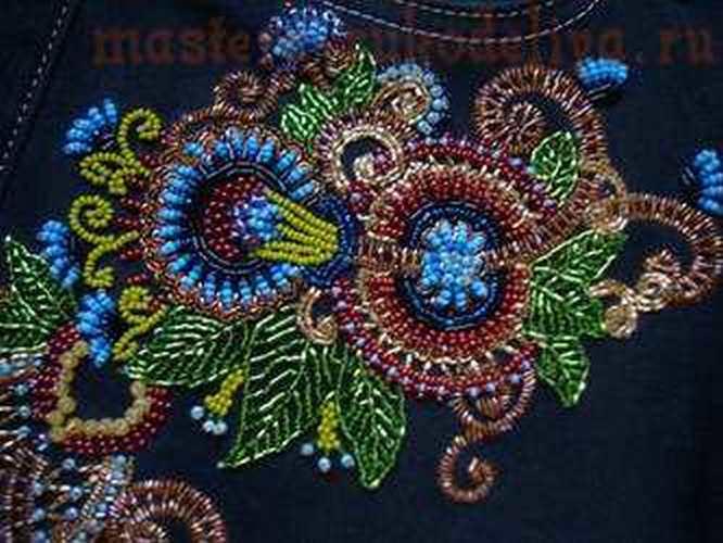 Мастер-класс по вышивке бисером: Вышивка на одежде - Вышивка бисером - Ирина Лысенко.