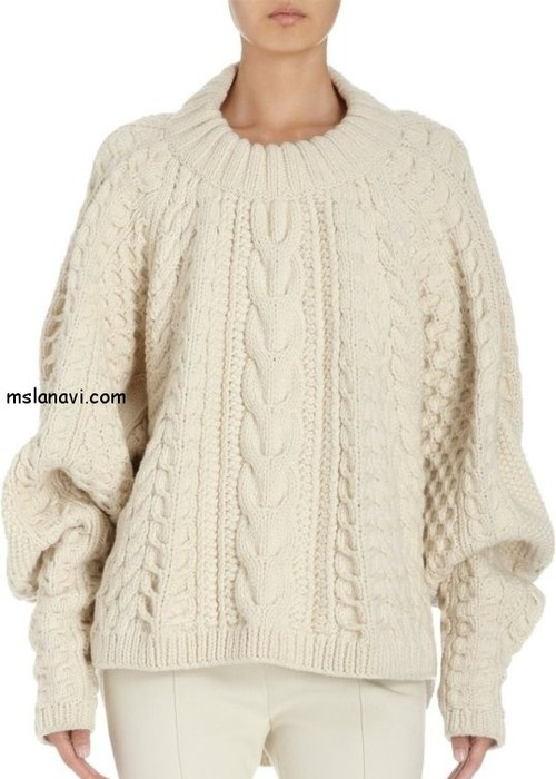 вязаный-пуловер-спицами-1 (500x700, 70Kb)