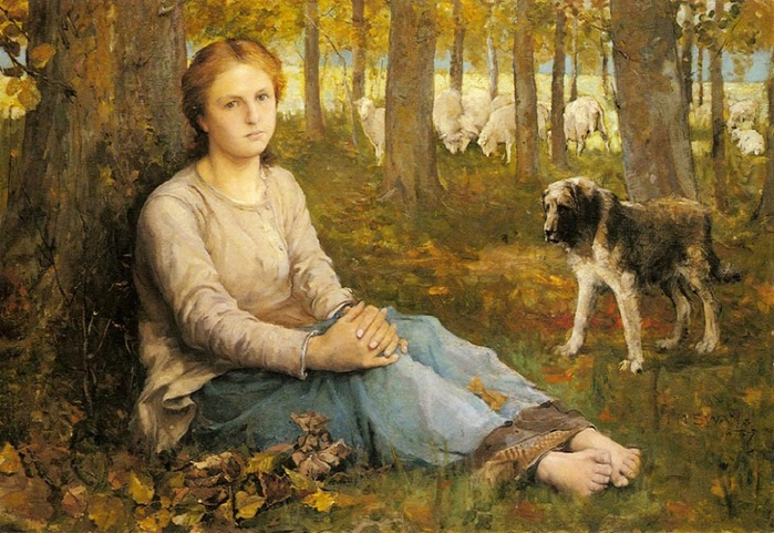 a_shepherdess_and_her_flock-john-macallan-swan1847-1910 (700x481, 155Kb)