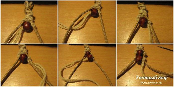Как сделать бусинку из ниток