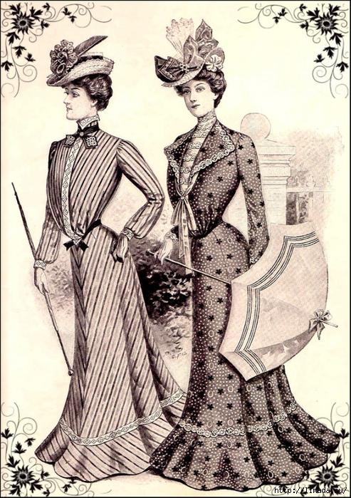 imagenes-vintage-gratis-damas-de-epoca-con-sombrillas (493x700, 366Kb)