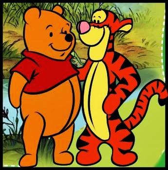 Тигра и винни пух рисованные